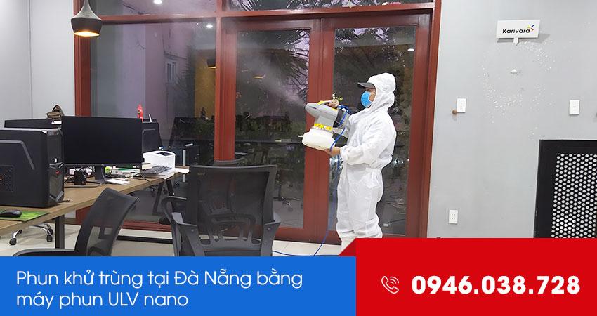 Phun khử trùng diệt khuẩn tại Đà Nẵng bằng máy phun ULV