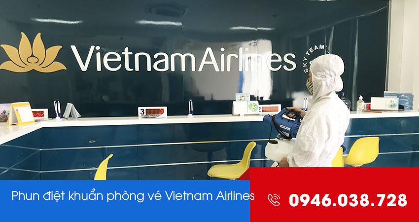 Phun khử trùng diệt khuẩn phòng vé Vietnam Airlines Đà Nẵng