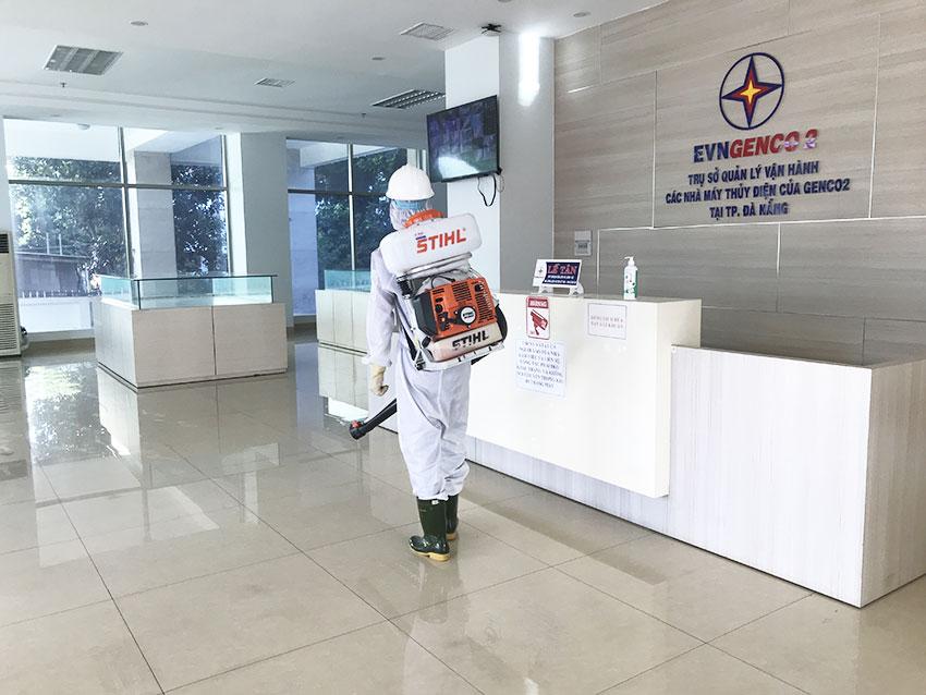 Công ty phun thuốc khử trùng cho EVNCENCO 2 tại Đà Nẵng