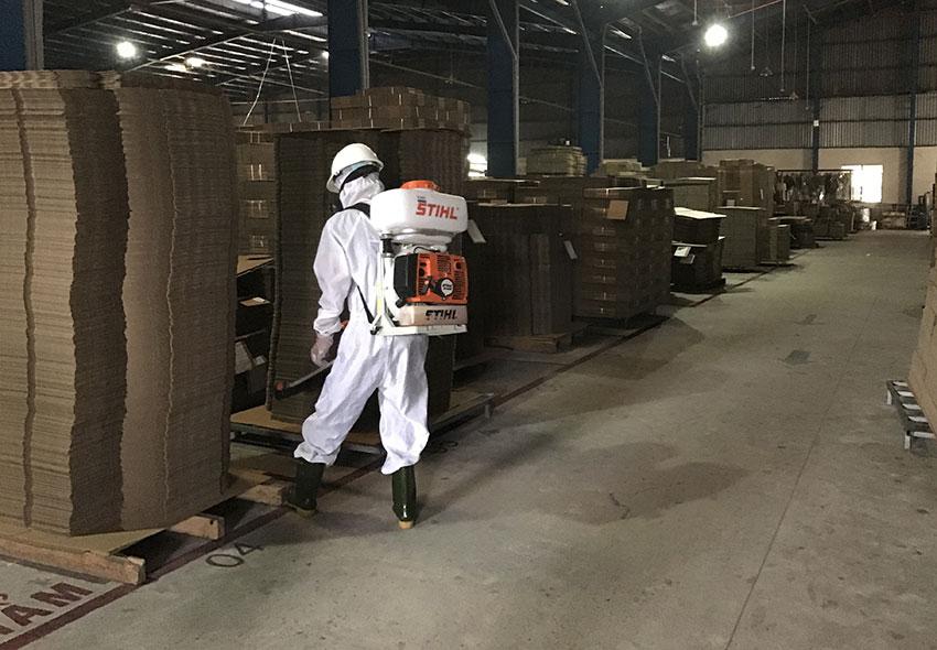 Dịch vụ phun xịt khử trùng tại nhà máy giấy Liên Chiểu Đà Nẵng 2